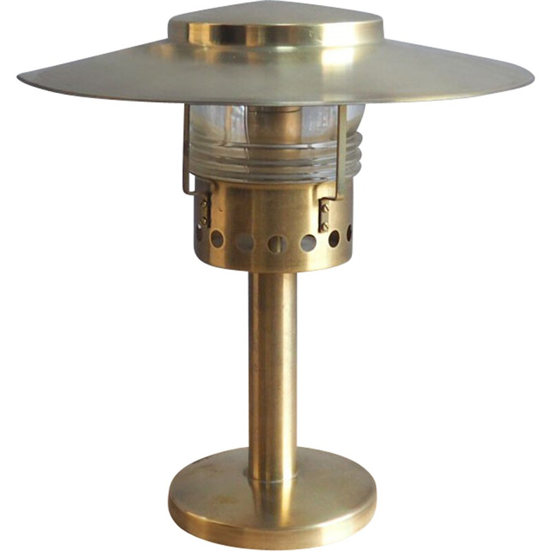 Danish brass table lamp, A HOLM SORENSEN - 1960s