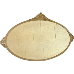 Large oval mirror in bronze - 1930s