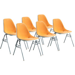 Set of 6 DSS Herman miller chairs, Charles & Ray EAMES - 1976