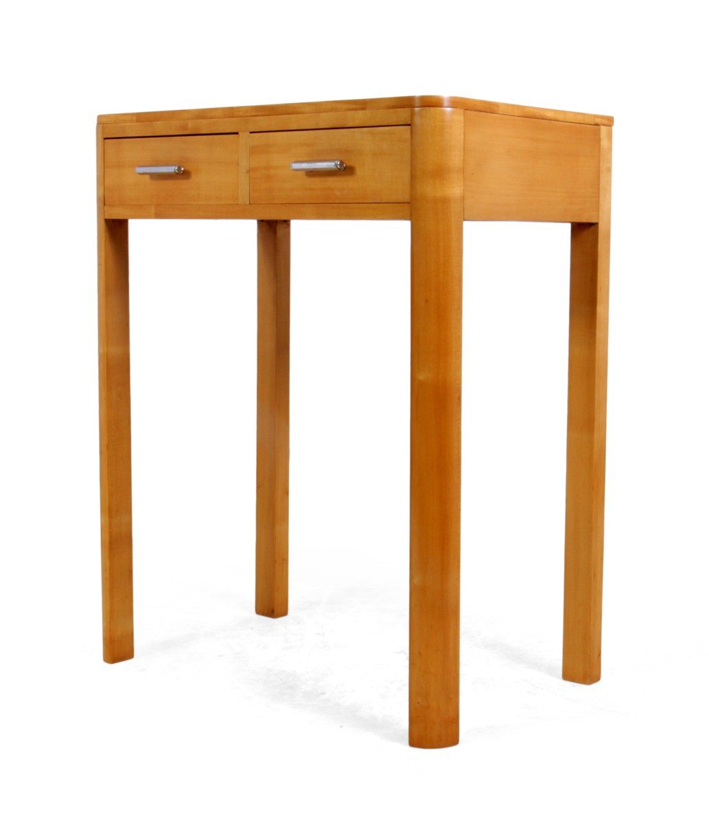 Satin Birch Side Table With Drawers 1930 Previous Next