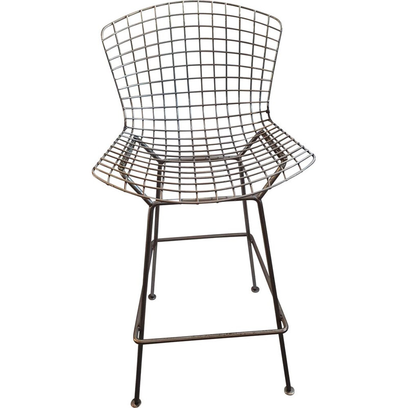 Vintage high stool by Harry Bertoia for knoll, 1960-1970