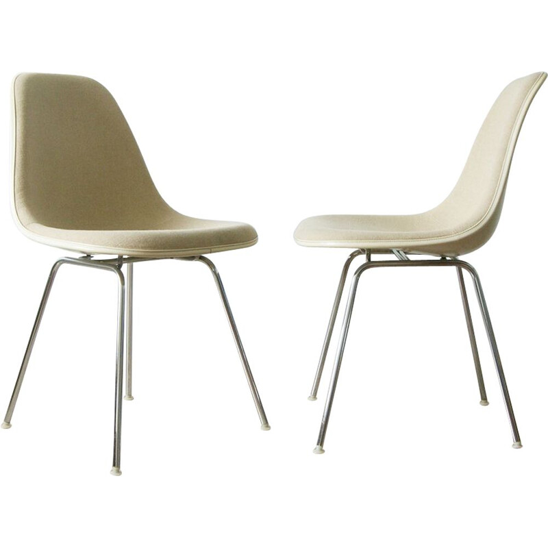 Pair of vintage Dsx side chairs by Charles & Ray Eames for Herman Miller, 1960s
