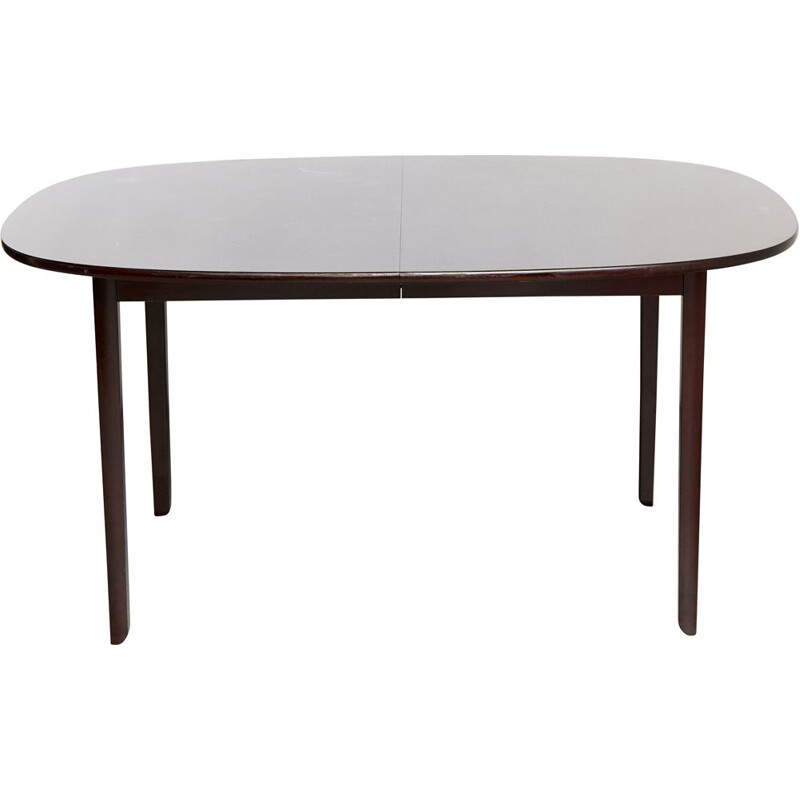 Mahogany vintage dining table by Ole Wanscher for Poul Jeppesens Møbelfabrik, 1950s