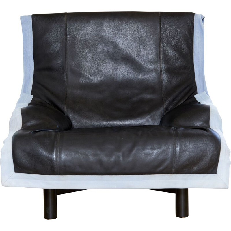 Vintage Sinbad armchair by Vico Magistretti for Cassina, 1981