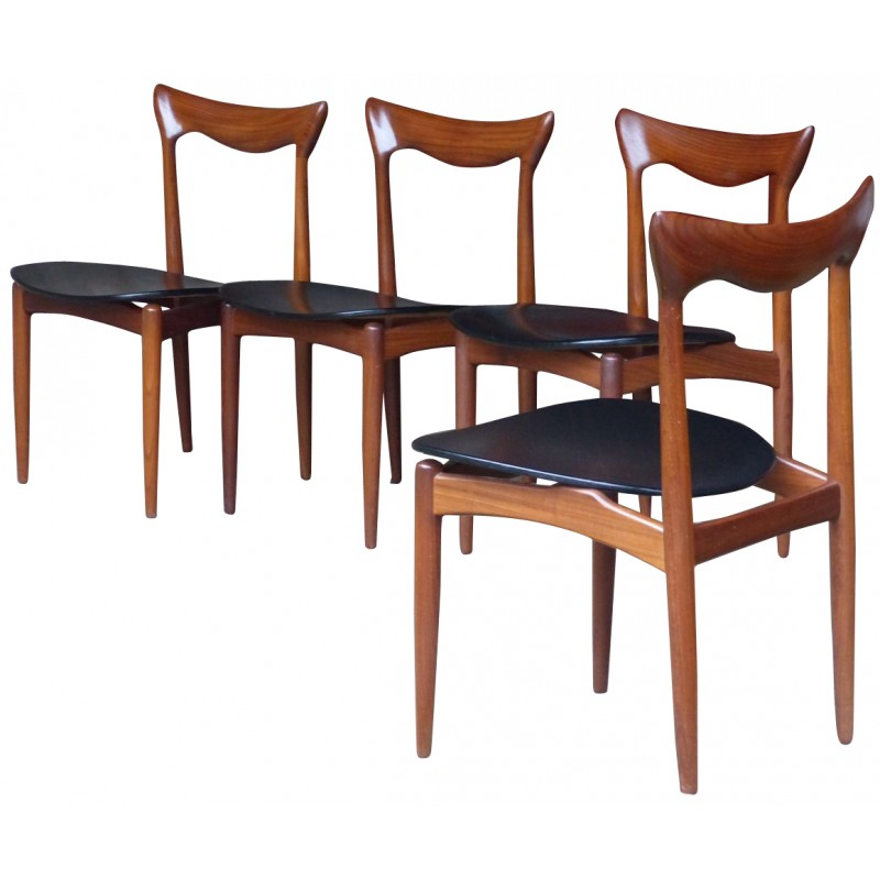 Etonnant Set Of 4 Danish Chairs, H.W KLEIN   1960s
