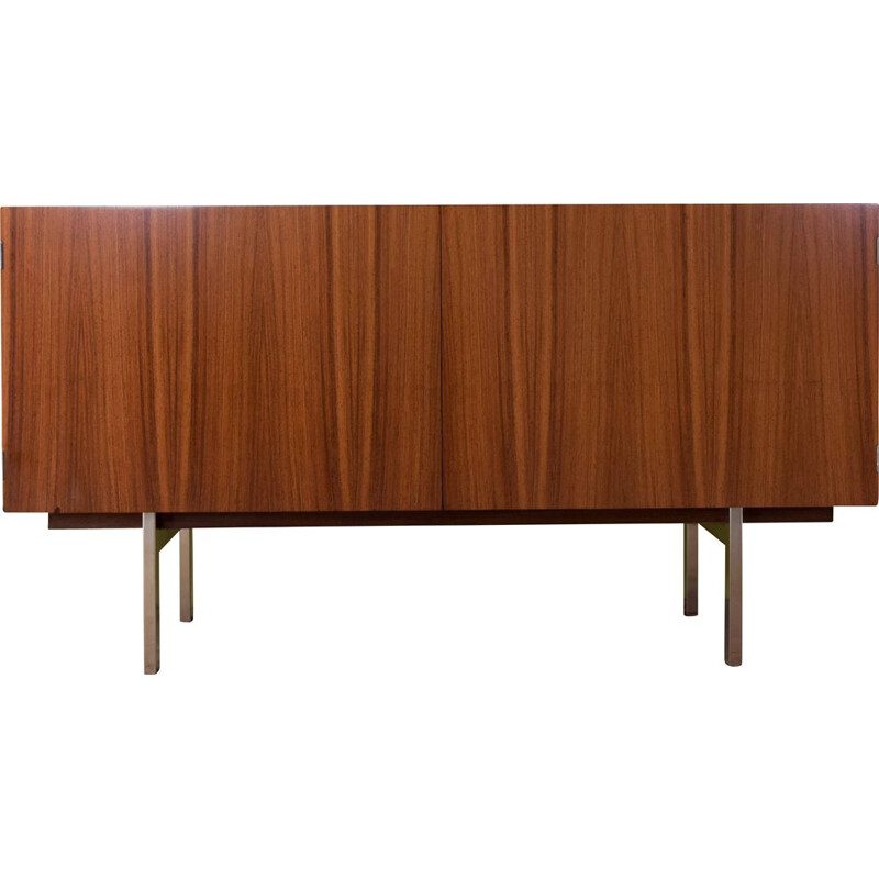 Rosewood vintage sideboard with interior in maple