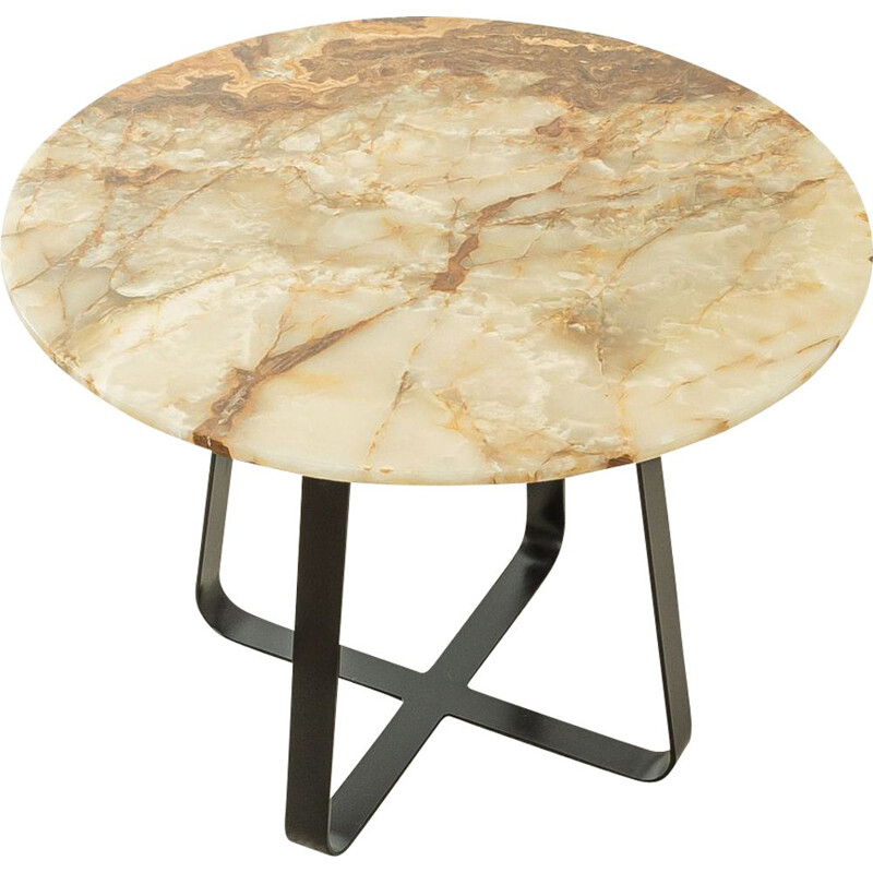 Vintage onyx-marble dining table, 1960s
