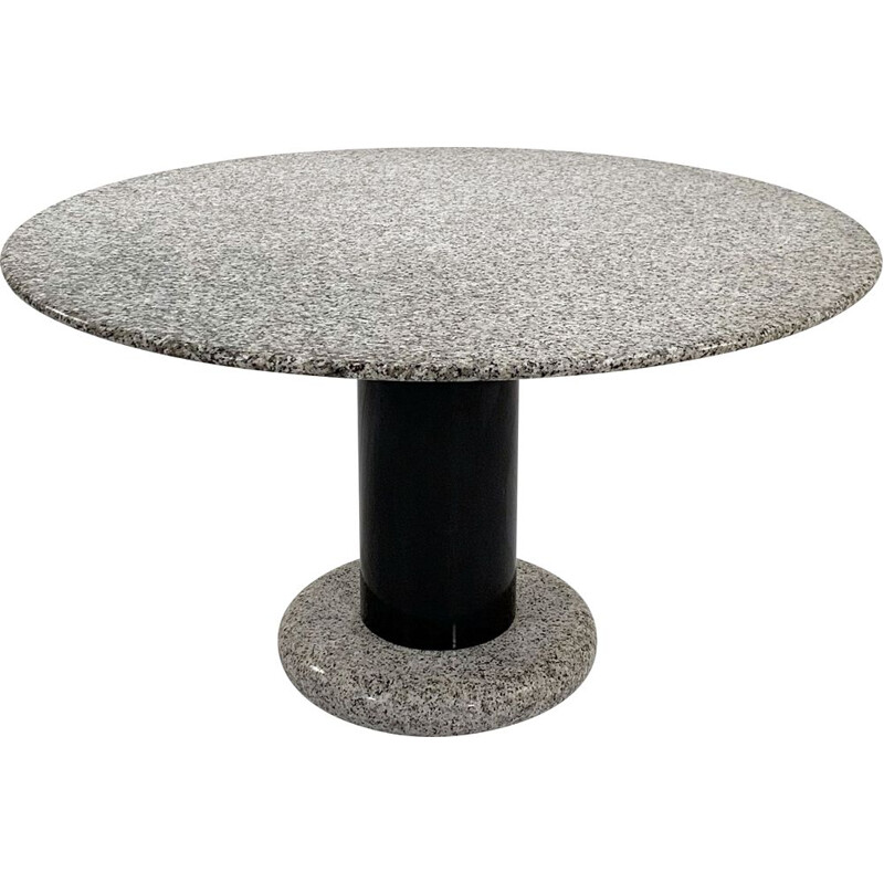 Granite vintage Lotorosso dining table by Ettore Sottsass for Poltronova, 1960s