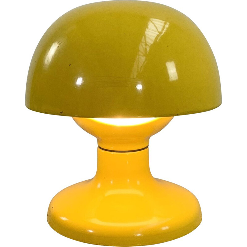 Vintage yellow Jucker 147 table lamp by Tobia & Afra Scarpa for Flos, 1960s