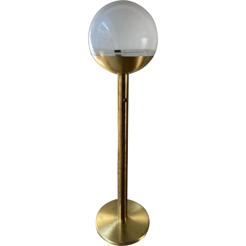 Vintage floor lamp in brass and Murano glass by Carlo Nason, 1972