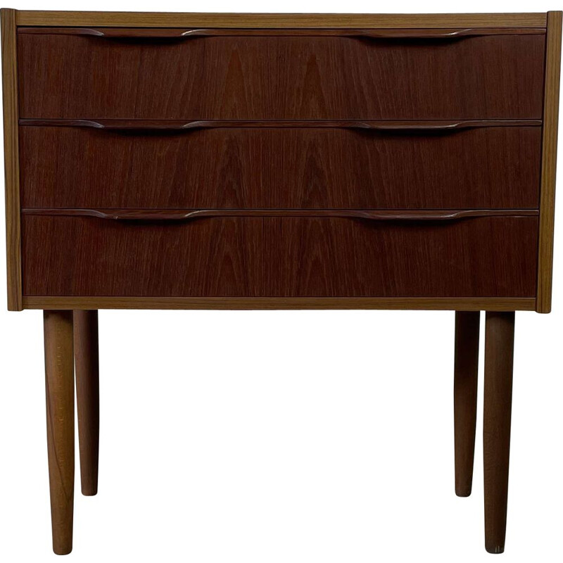 Scandinavian vintage teak chest of drawers with 3 drawers, 1960