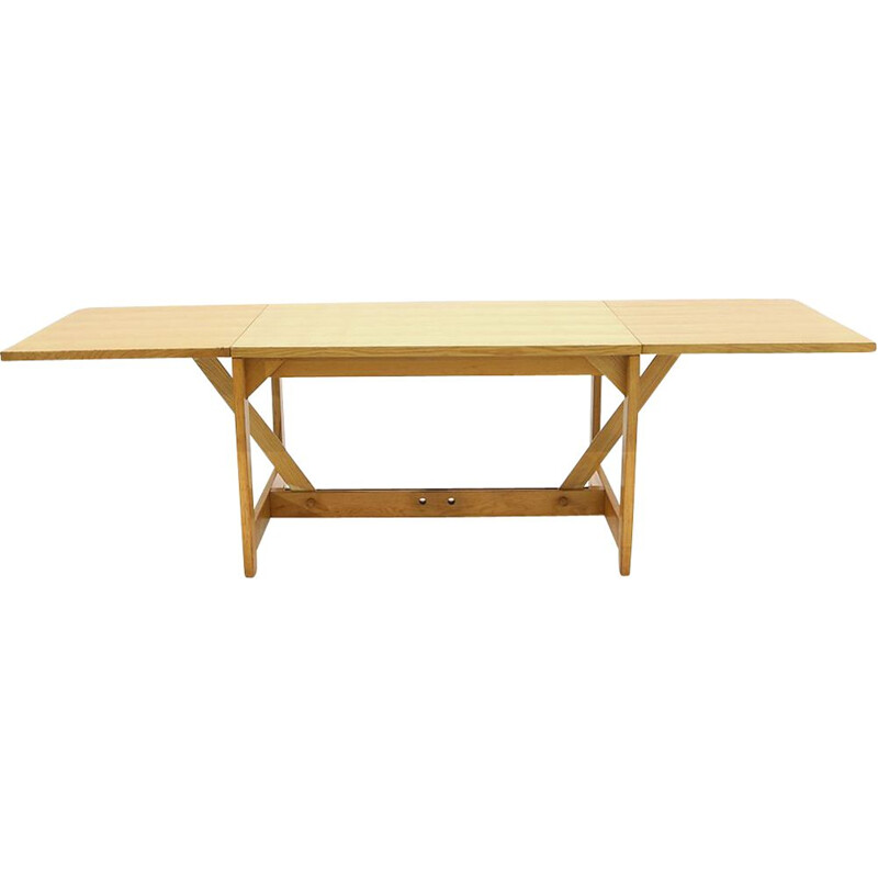 Extendable vintage ashwood table by Werther Toffoloni and Piero Palange for Germa, 1970s