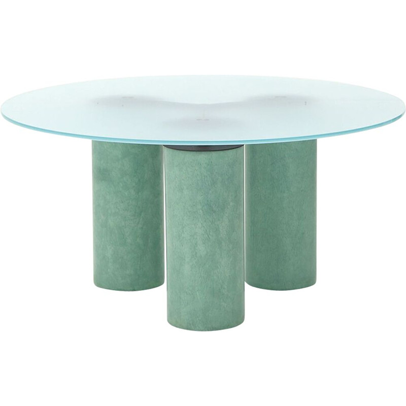 """Vintage """"Serenissimo"""" circular table by Lella and Massimo Vignelli for Acerbis, 1980s"""