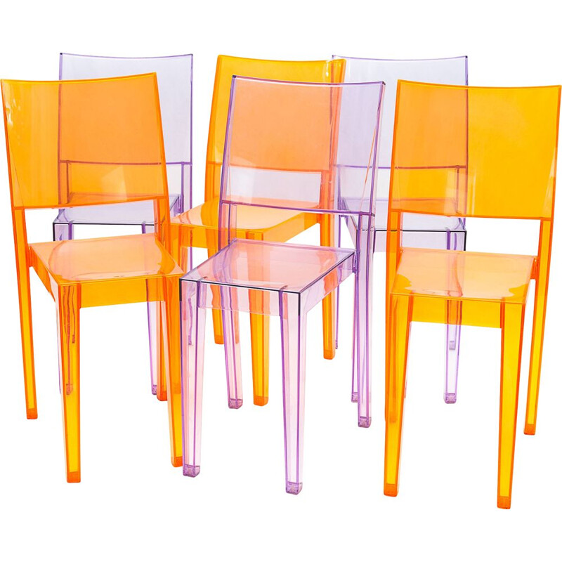 Set of 6 vintage chairs by Philippe Starck for Kartell, 2005