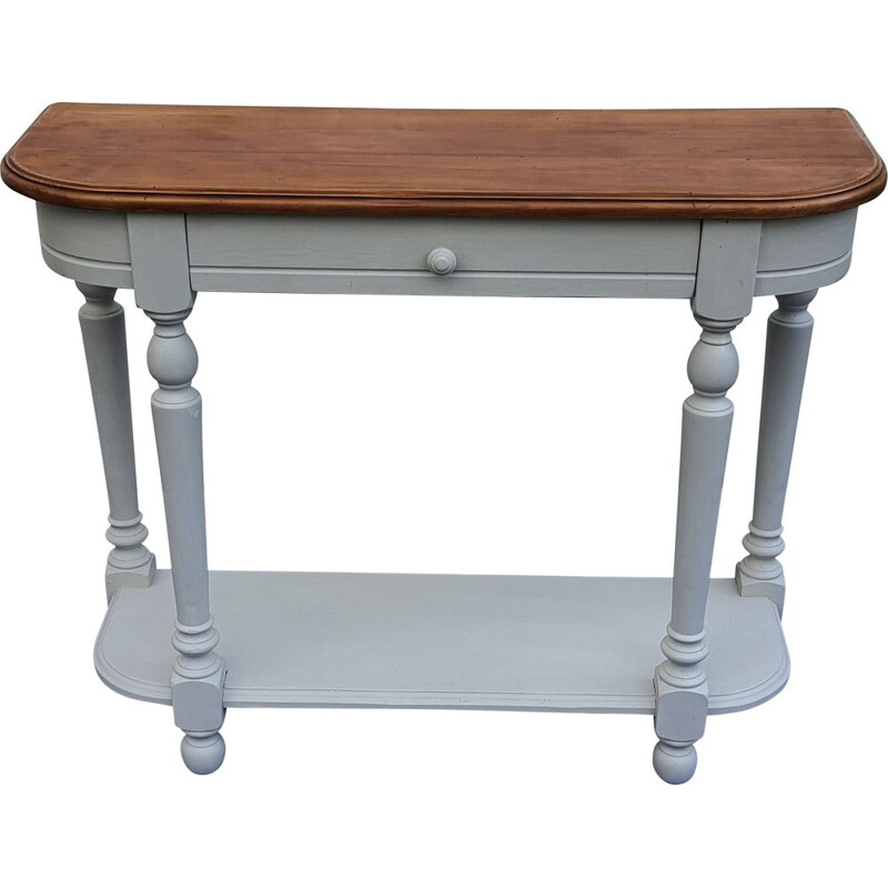 Vintage console with patina in light grey