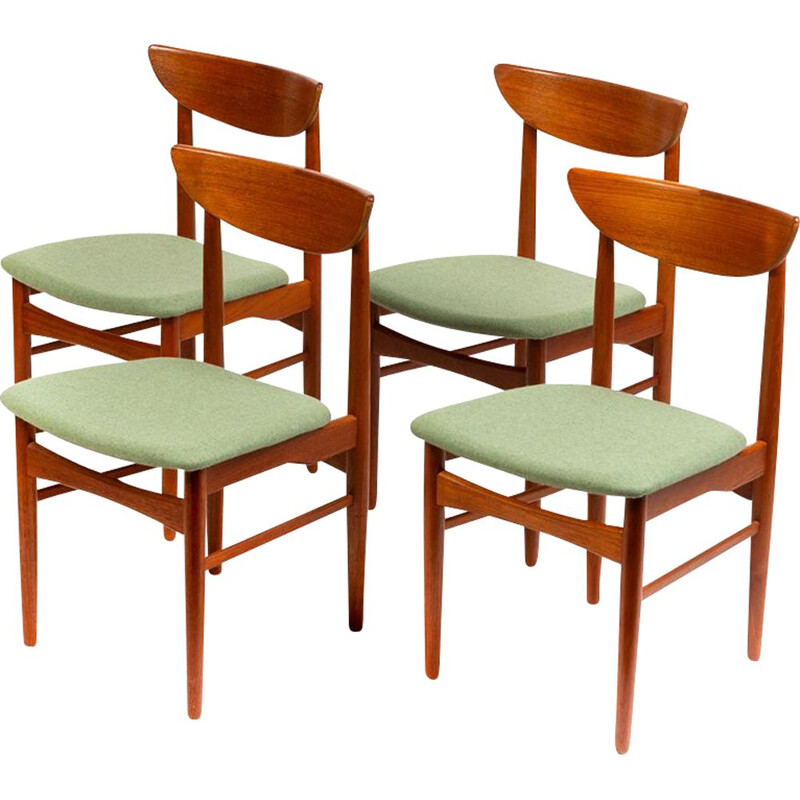 Set of 4 vintage Danish dining chairs by E.W. Bach for Skovby Mobelfabrik