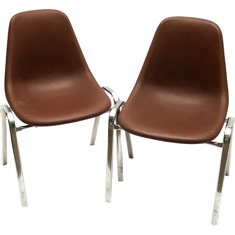 """Pair of vintage chairs """"ORLY"""" by Bruno Pollak, 1976"""