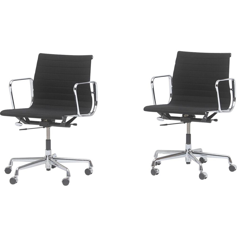 Pair of vintage office armchairs model EA 117 by Charles & Ray Eames for Vitra