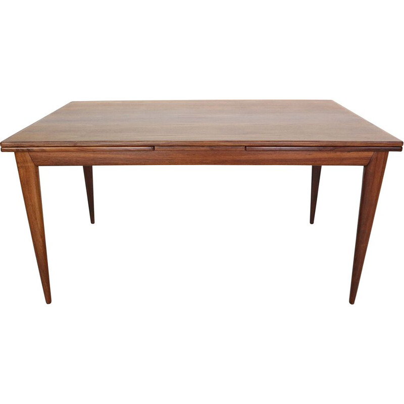 Extendable rosewood vintage dinning table no:254 by Niels Otto Møller for J.L. Møllers, 1960s