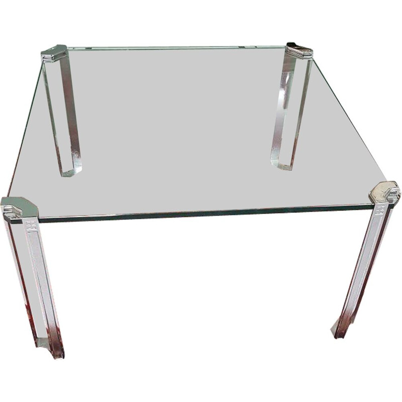 Mid-century T24 coffee table with chrome legs by Peter Ghyczy, 1970s