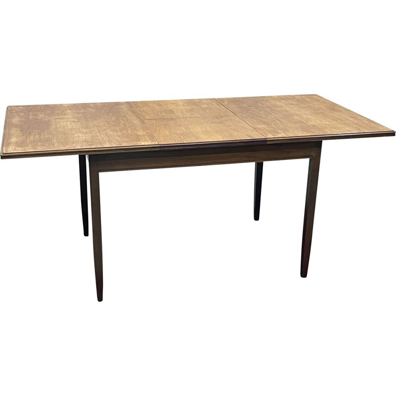 Vintage teak table with butterfly extension, 1970