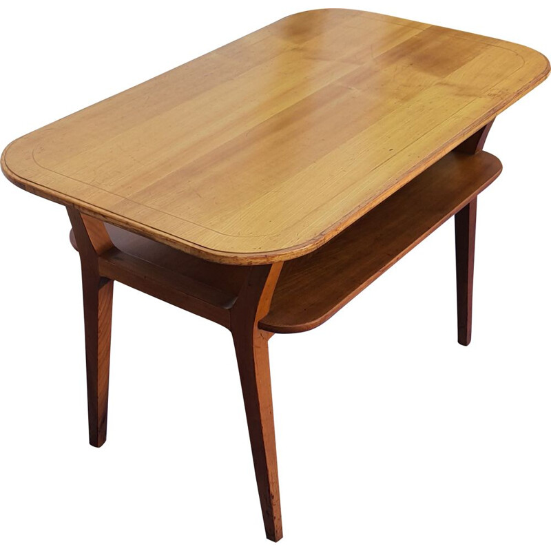 Scandinavian vintage coffee table with double top
