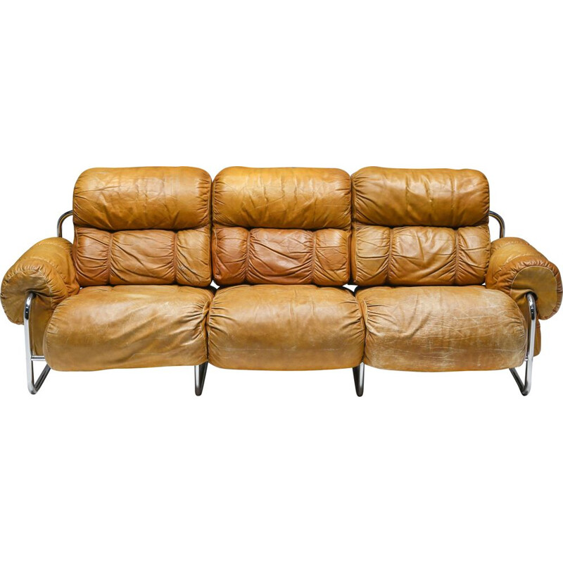 Vintage Tucroma three seater sofa by Guido Faleschini for Pace Collection, 1970s