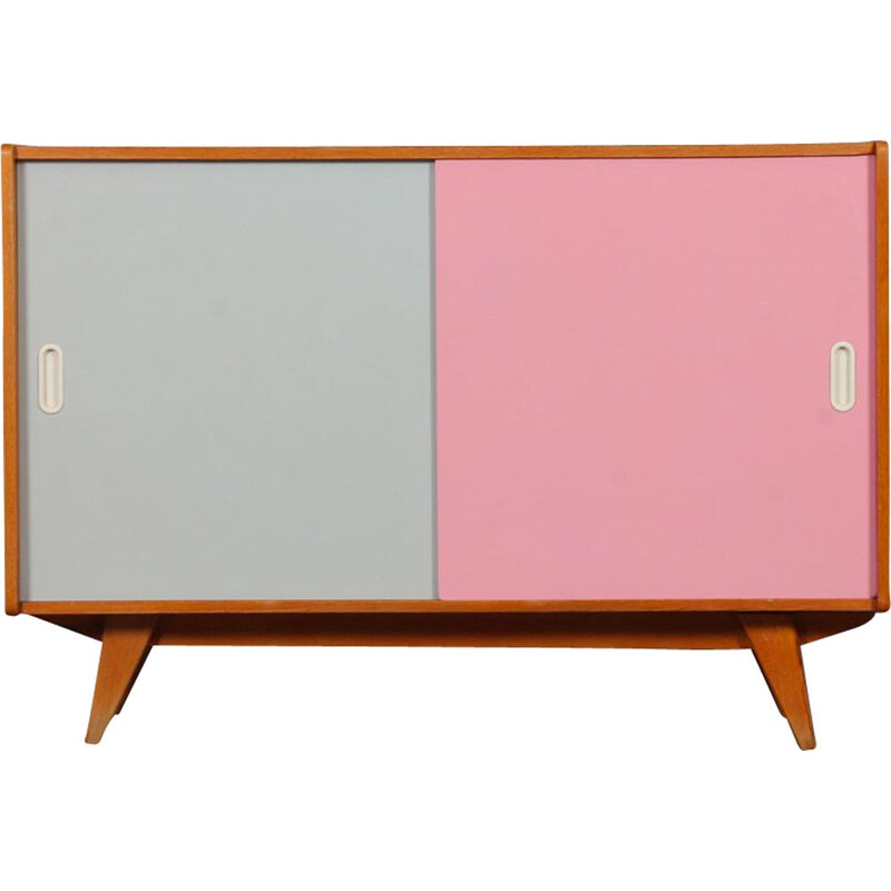 Vintage pink and white highboard by Jiri Jiroutek for Interier Praha, Czech Republic 1960
