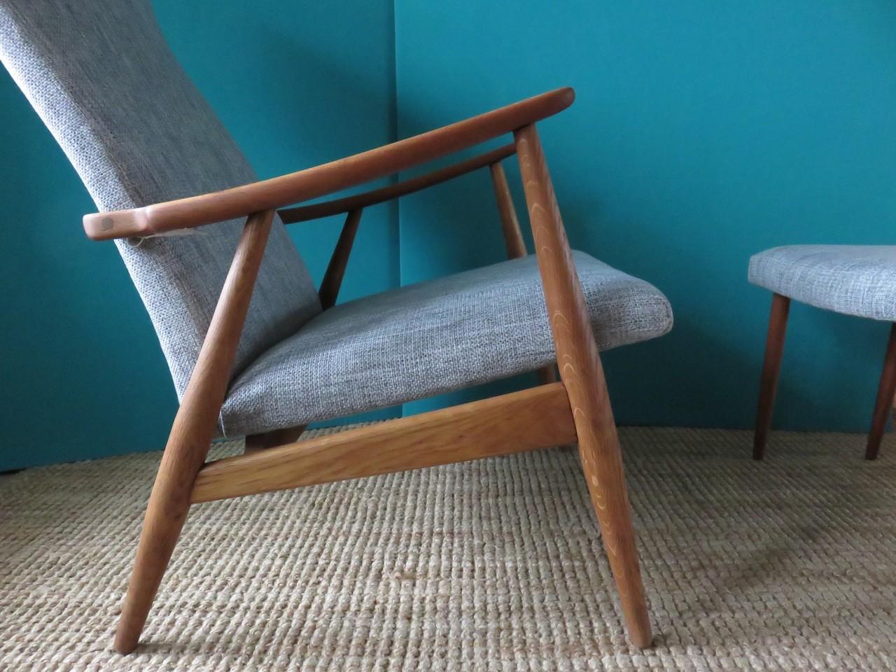 Danish Chair And Ottoman Poul Jensen 1950s Previous Next