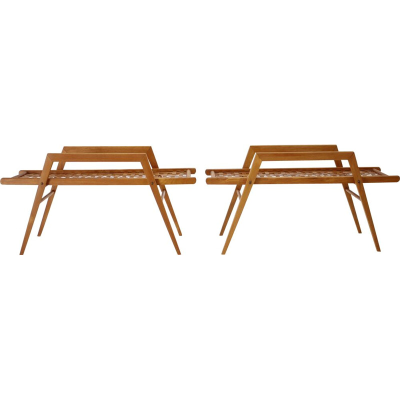 Pair of vintage plant shelves by Uluv, Czechoslovakia 1960s