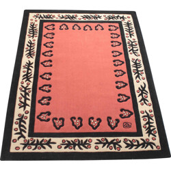 Very large Sam Laik red rug, GAROUSTE & BONETTI - 1990s