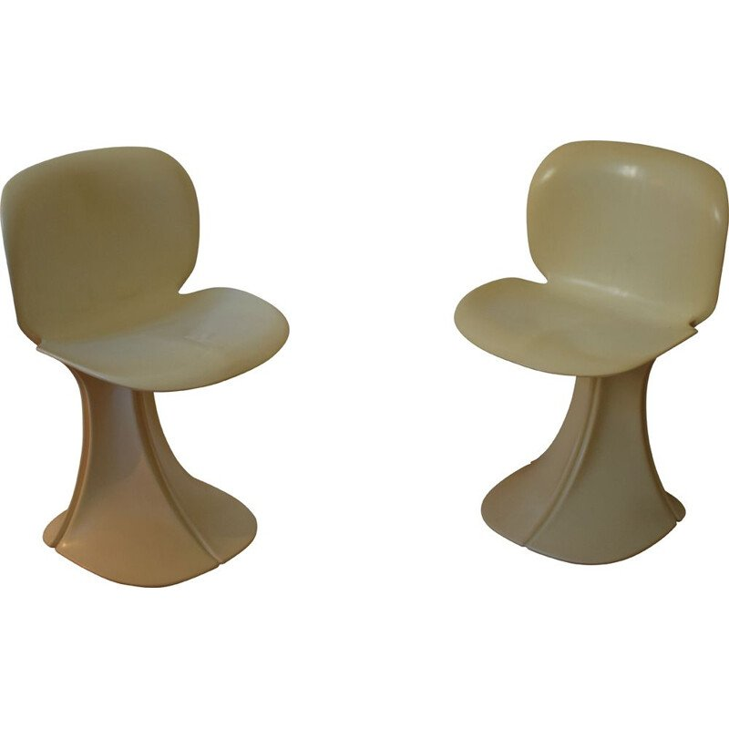 Pair of vintage Fleur chairs by Pierre Paulin for Boro, 1973