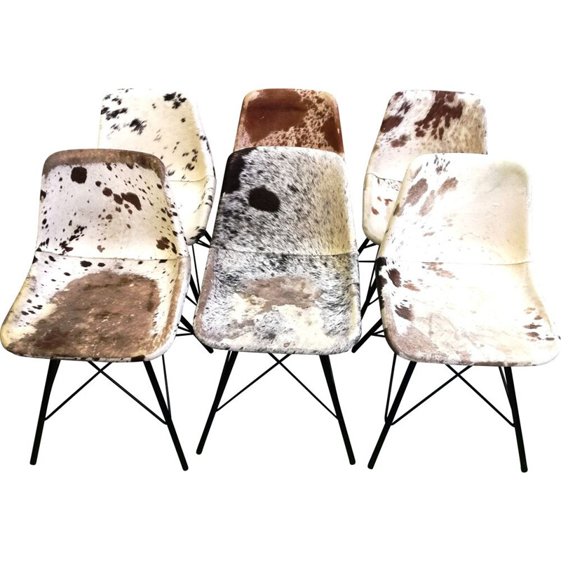 Vintage chair with cowhide pattern