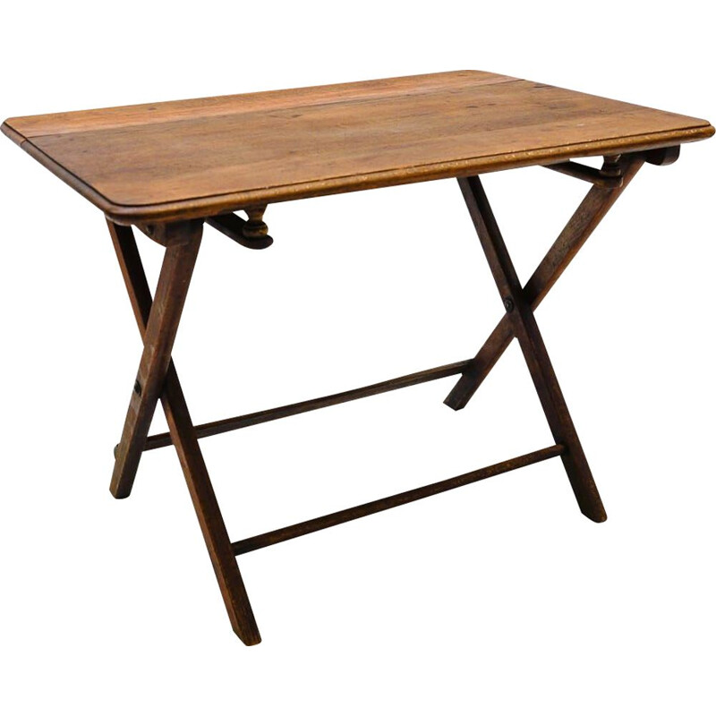 Vintage Bauhaus wooden folding coffee table, Germany 1940s