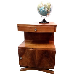 Small side table in varnished wood - 1930s