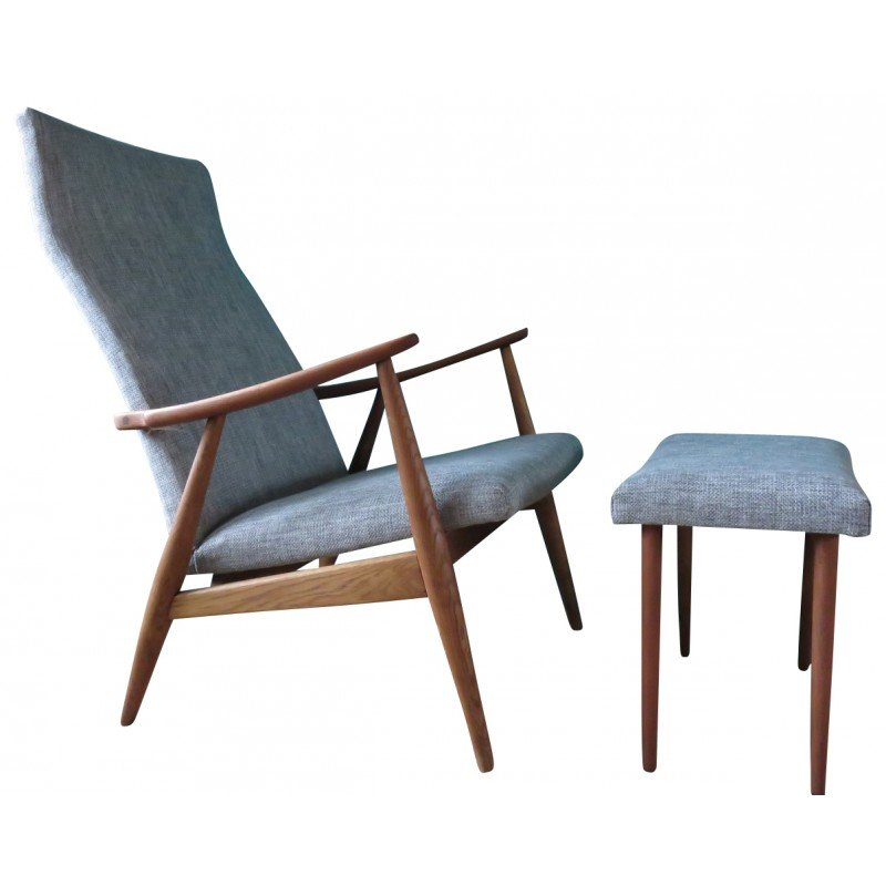 Danish Chair And Ottoman, Poul JENSEN   1950s