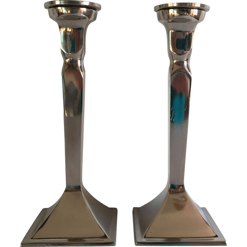 Pair of vintage Neo Classic candle holders