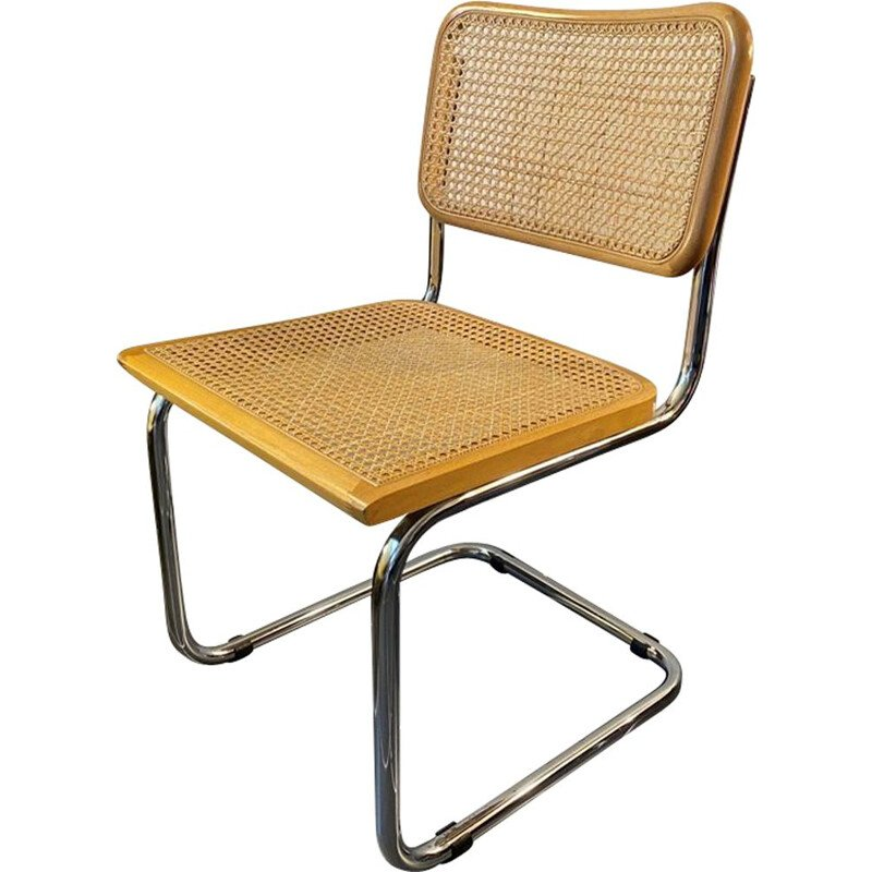 Cesca B32 vintage chair without arms by Marcel Breuer, 1970