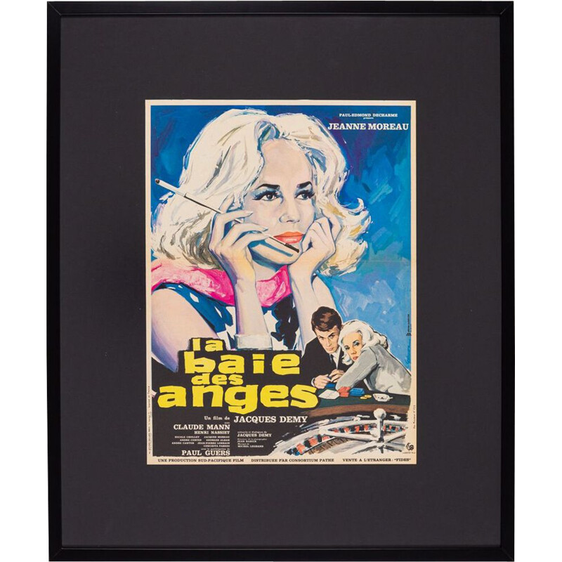 """Vintage poster """"La Baie des Anges"""" french movie, 1963s"""