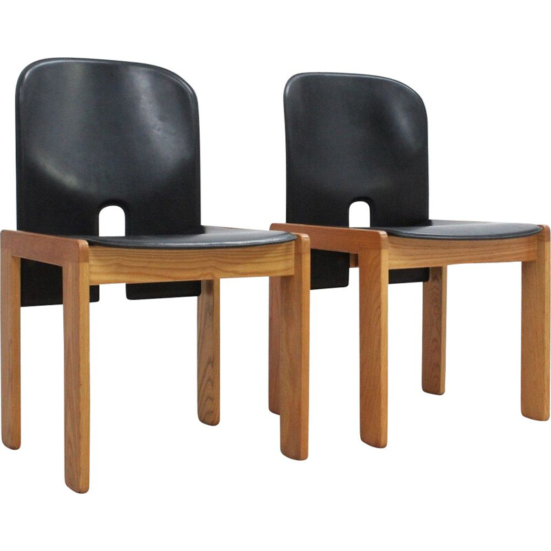Set of 2 model 121 chairs Afra e Tobia Scarpa design for Cassina, 1960s