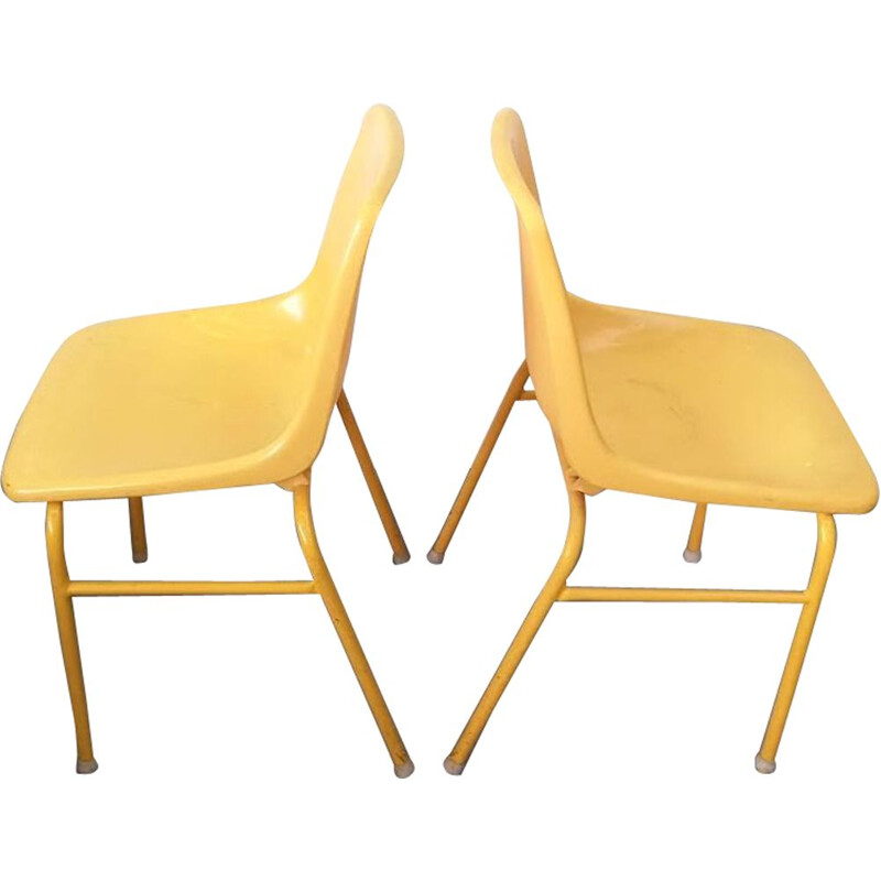 Pair of vintage Orly chairs, Pollak design, 1975
