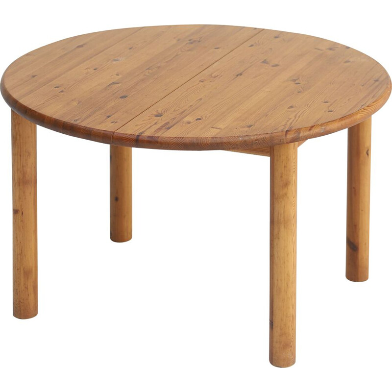 Vintage round dining table by Rainer Daumiller, Denmark 1970s
