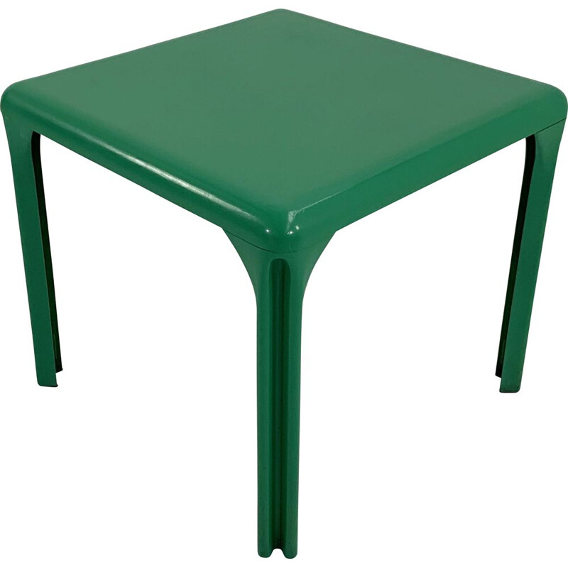 Green vintage Stadio 80 plastic dining table by Vico Magistretti for Artemide, 1970s