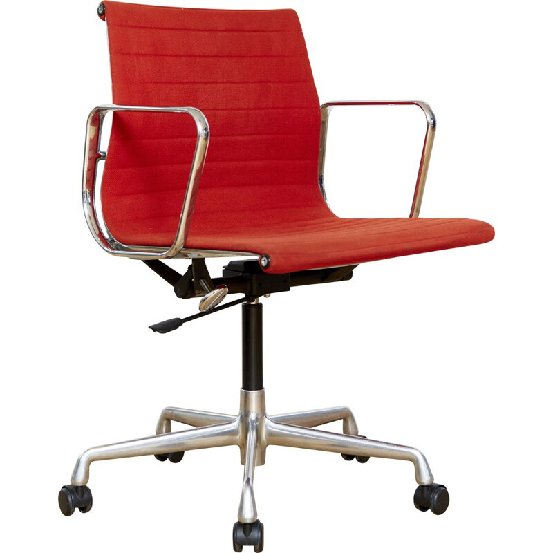 Vintage EA 117 desk chair orange-red by Charles & Ray Eames for Vitra