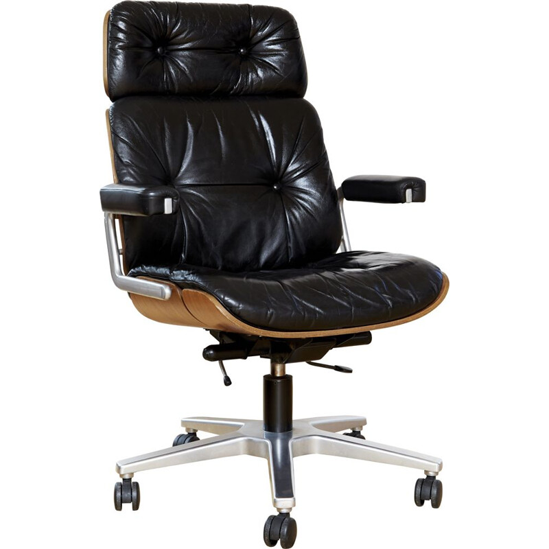 Vintage swivel office chair by Prof. Karl Dittert for Stoll Giroflex