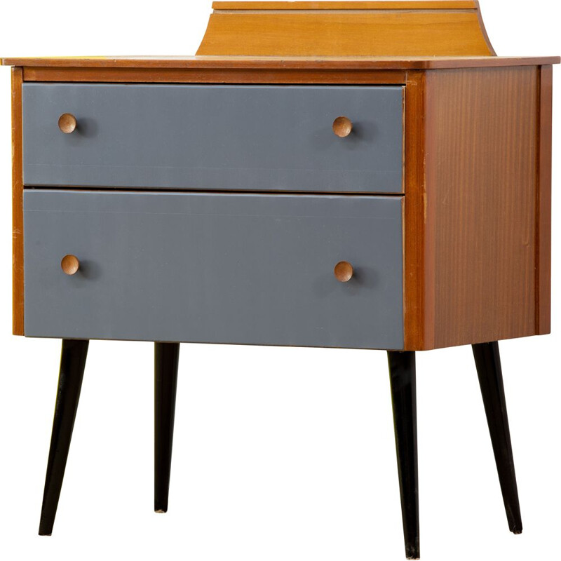 Scandinavian vintage 2 drawer chest of drawers