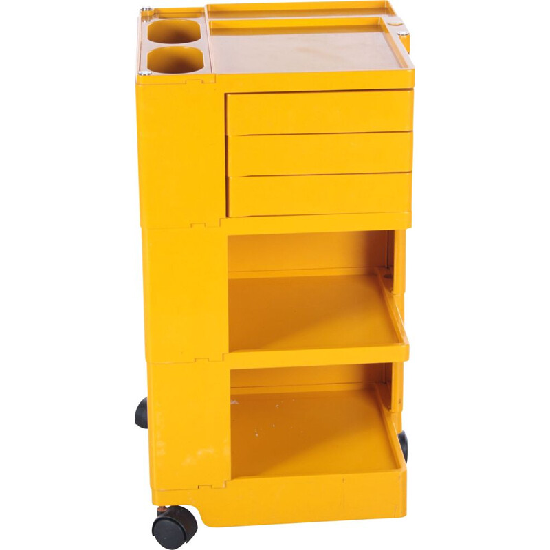 """Space Age yellow """"Boby"""" storage trolley by Joe Colombo, 1970s"""