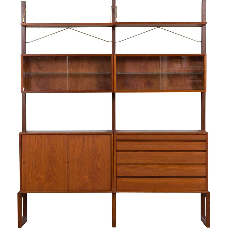 Mid century wall unit by Poul Cadovius for Cado, Denmark 1960s