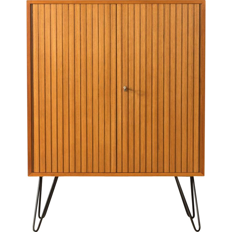 Vintage walnut cabinet with two doors, Germany 1960s