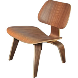 """Herman Miller """"LCW"""" chairs in walnut, Charles & Ray EAMES - 2000s"""
